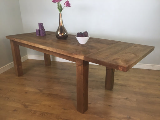 The Authentic Waxed Plank Dining Table with Leaf