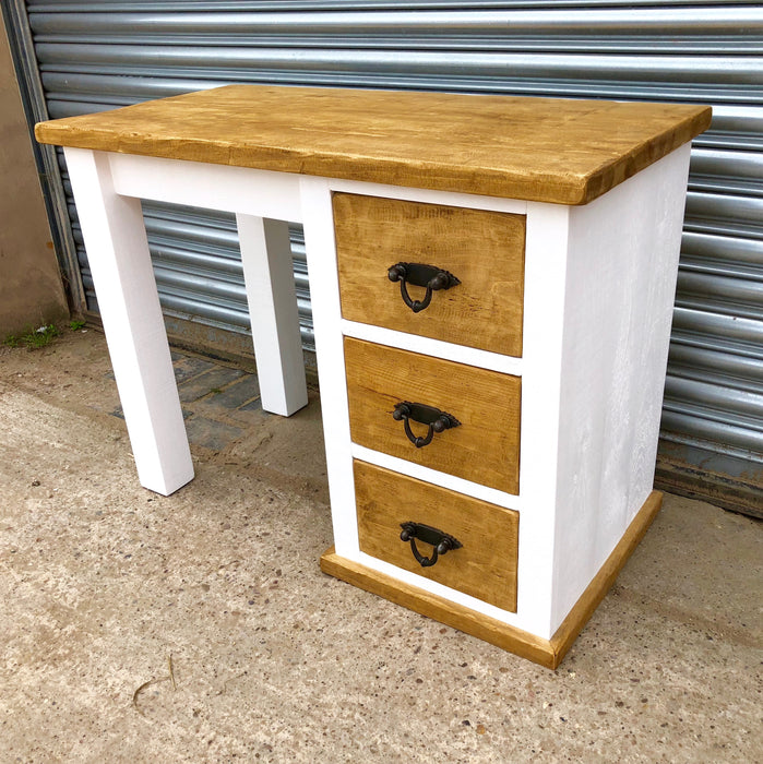 The Artisan Painted Single Pedestal Dressing Table/Desk
