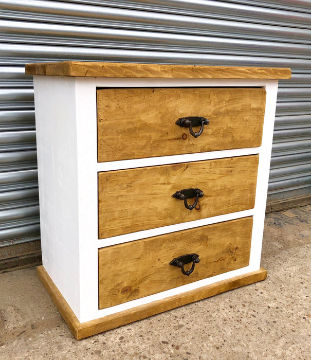 The Artisan Painted 3 Drawer Chest Kubek Furniture