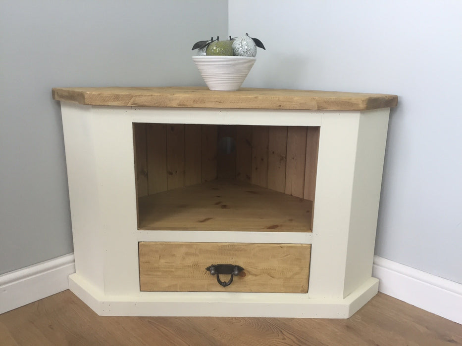 The Artisan Painted Corner TV Unit