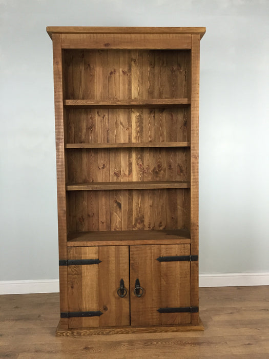 The Authentic Waxed Storage Bookcase with Doors