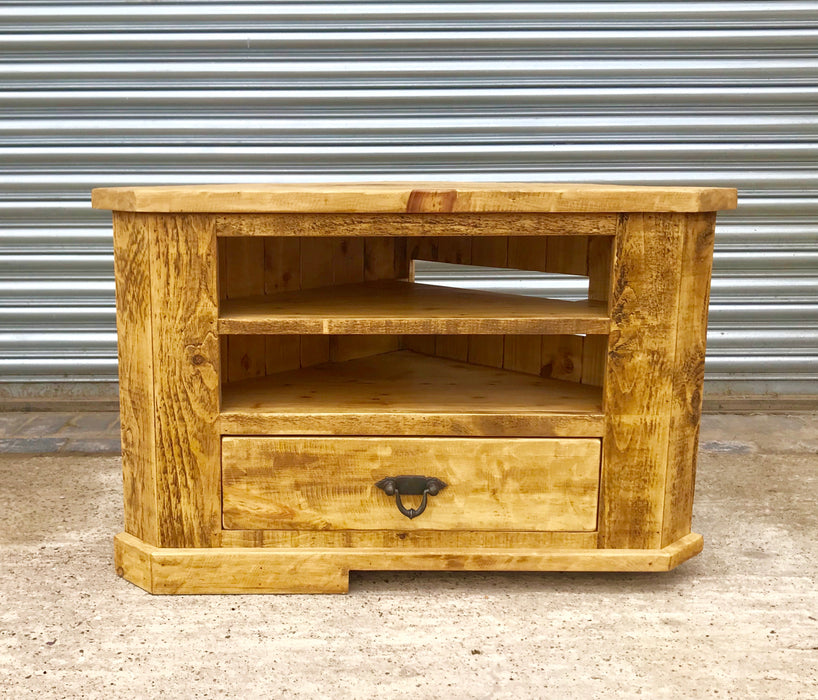 The Artisan Waxed Corner TV Unit