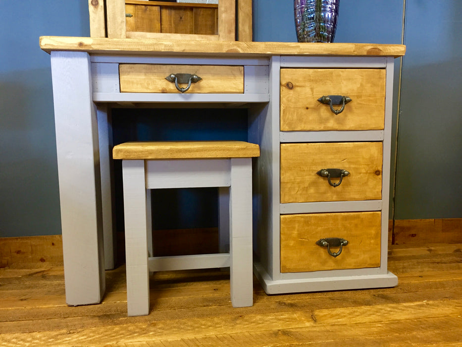 The Artisan Painted Single Pedestal Desk/Dressing Table
