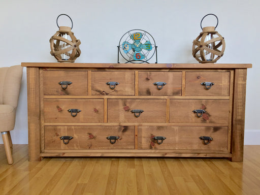 The Authentic Waxed Large Multi-Drawer Chest