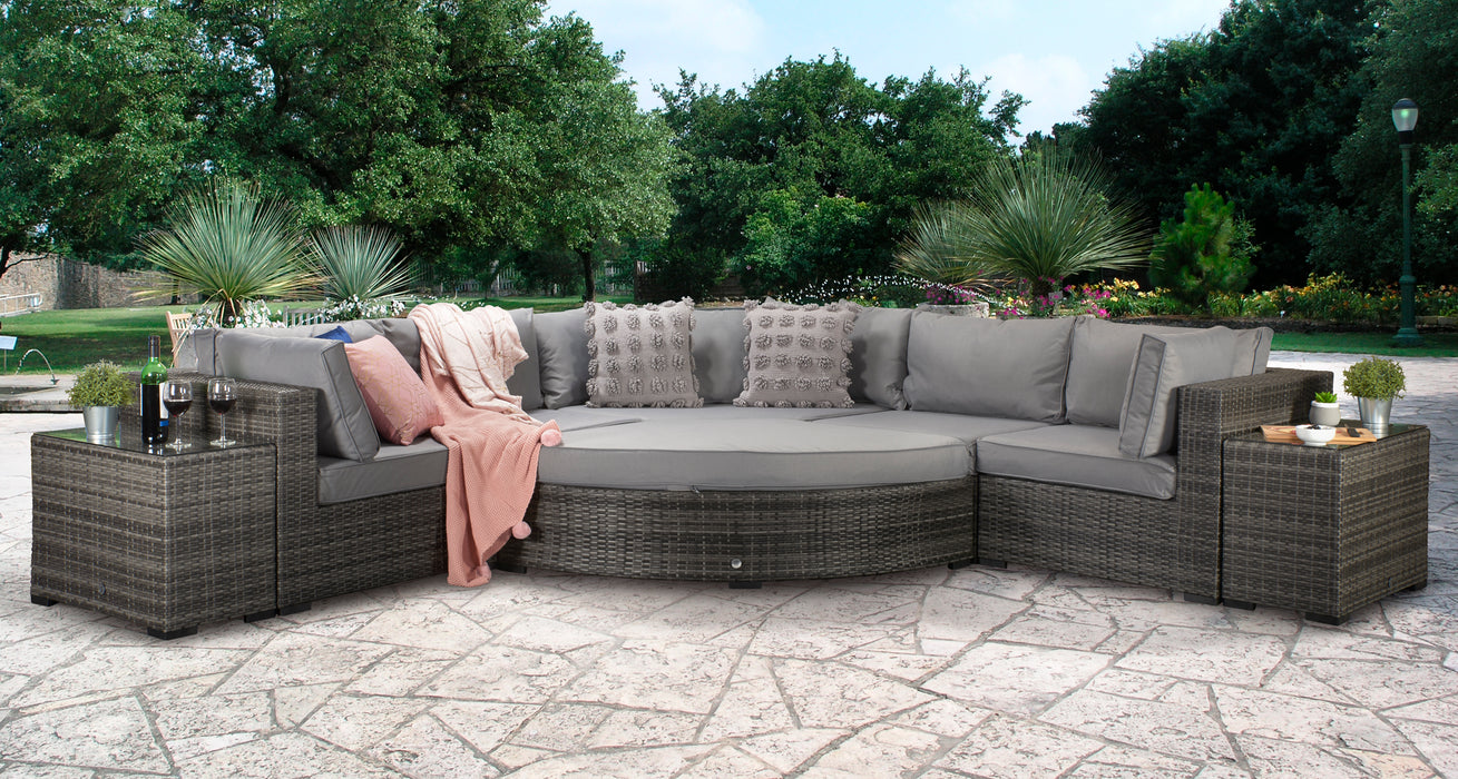 Jessica Sofa Set in Grey - IN STOCK