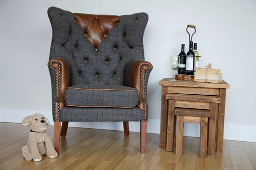 Harris Tweed Wing Wrap Chair