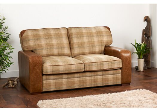 7099f8a85c2d Miami 2-Seater Moon Wool And Italian Leather Huntingtower Sand With Brown  Cerrato Arms