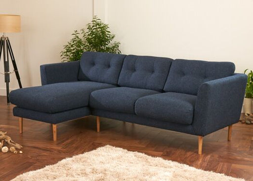 Napier Corner Harris Tweed Vintage Blue Sofa