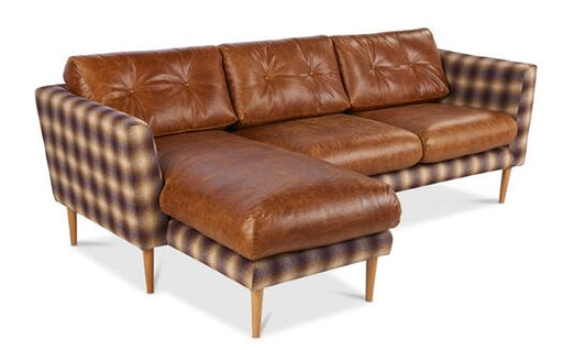 Napier Corner Lhf Thorpe Chariot Sofa With Brown Cerrato Cushions