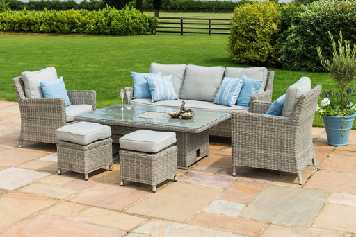 Oxford Sofa Dining Set with Ice Bucket & Adjustable Table in Grey - IN STOCK and READY FOR DELIVERY