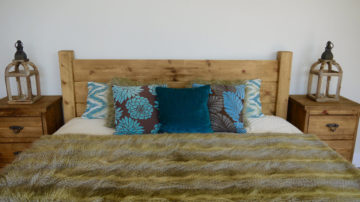The Artisan Waxed Low Plank Bed