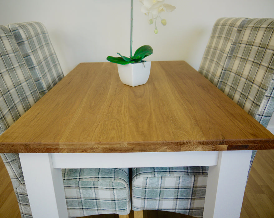 The Quercus Oak Painted Dining Table