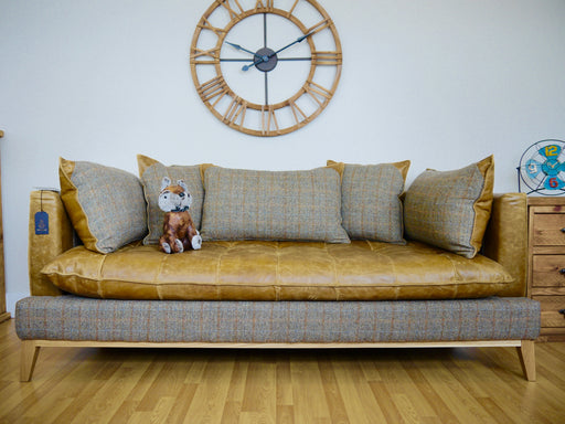The Harris Tweed Leather Sofa