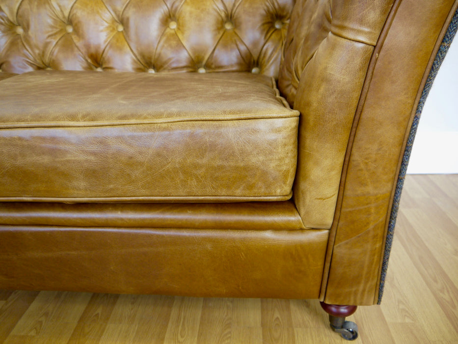 The Chesterfield Tweed Leather Sofa
