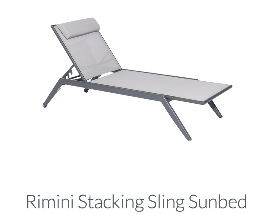 Rimini - Stacking Sling Sun bed