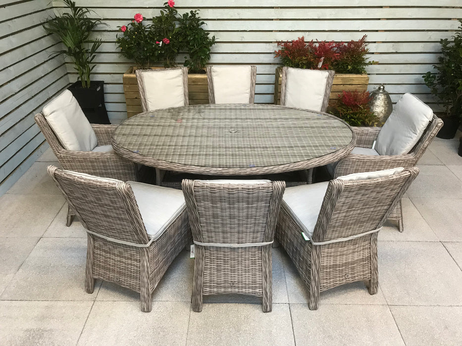 Alexandra Oval Dining Table Only (Chairs priced separately)