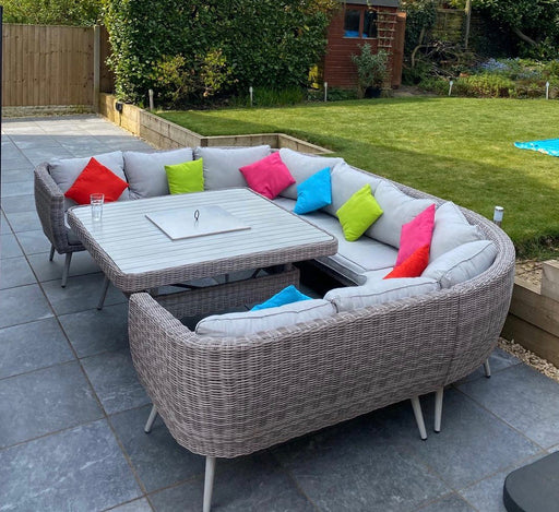Danielle U-Shape Sofa Set with Fire Pit/Ice Bucket - LIMITED STOCK READY FOR DELIVERY