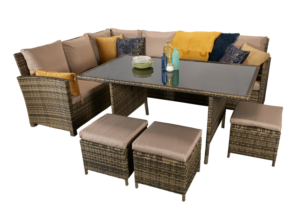 Charlotte Corner Sofa Dining Set in Natural  - CURRENTLY SOLD OUT IN ADVANCE