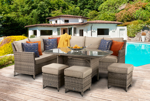 Edwina Sofa and Dining Set in Nature weave - IN STOCK AND READY FOR DELIVERY