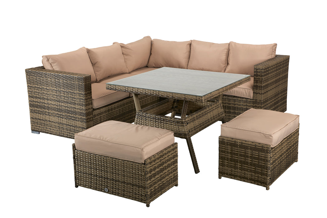 Georgia 6 seater Sofa And Dining Set in Natural - SOLD OUT