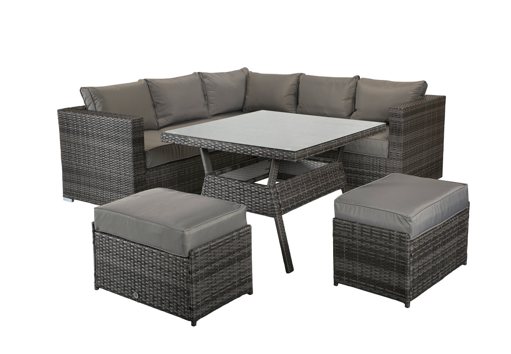 Georgia 6 seater Sofa And Dining Set in Grey