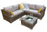 Georgia Corner Group Sofa Set with ICE BUCKET in Natural - SOLD OUT