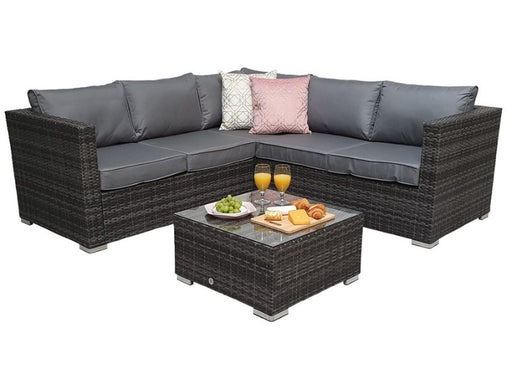 Georgia Corner Group Sofa Set in Grey **RESERVE NOW FOR MAY DELIVERY**