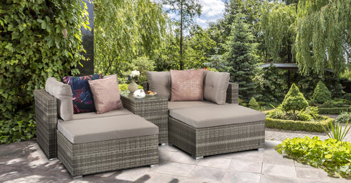 Harper Compact Sofa Garden Set in Grey - IN STOCK AND READY FOR DELIVERY