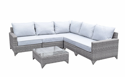 Helena Corner Sofa Set in Grey