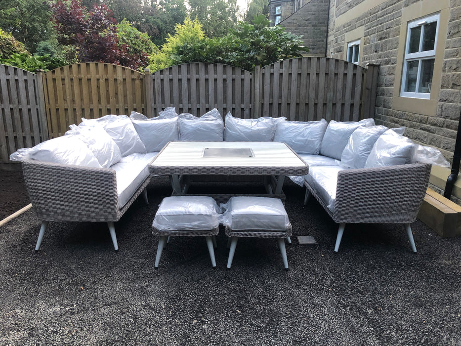 Danielle U-Shape Sofa Set with Fire Pit/Ice Bucket - RESERVE NOW