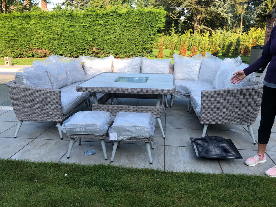 Danielle U-Shape Sofa Set with Fire Pit/Ice Bucket  **RESERVE NOW FOR JUNE STOCK**