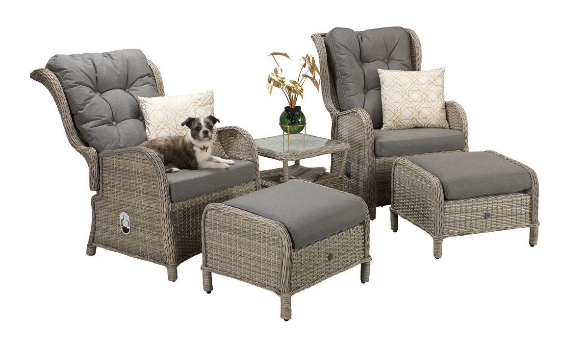 Meghan Reclining Lounge Set in Grey -SOLD OUT