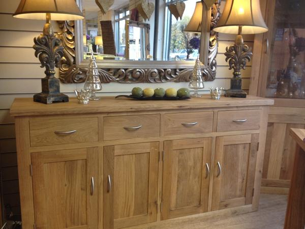 The Quercus Oak 4 Door/4 Drawer Sideboard