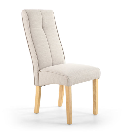 The Espresso Linea Calico Cream Dining Chair