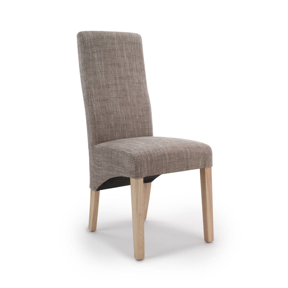 The Espresso Sunbrella Tweed Linen Dining Chair