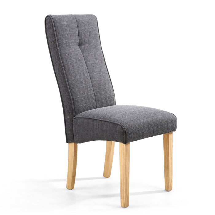 The Espresso Linea Falcon Grey Dining Chair