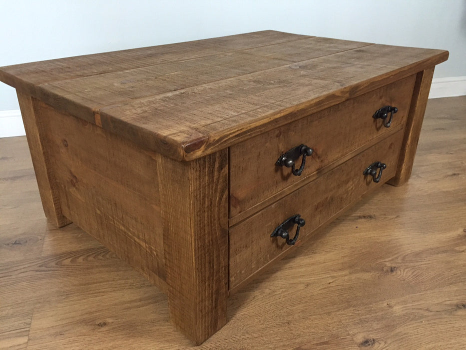 The Authentic Waxed Through-Drawer Coffee Table