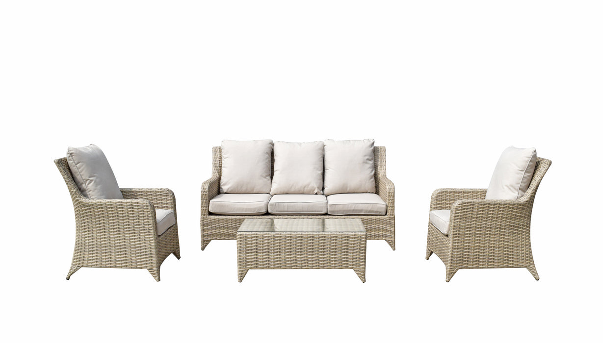 SARAH 3 SEATER SOFA + 2 CHAIRS SET IN NATURAL - LAST x3 SETS LEFT FOR THE SEASON