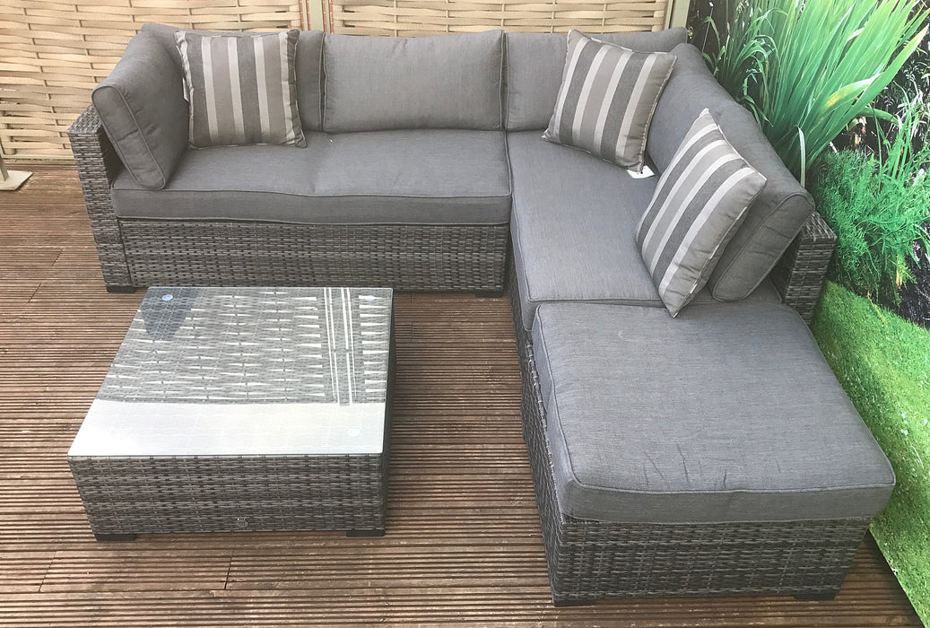 Savannah Corner Group Sofa Set in Grey **RESERVE NOW FOR STOCK ARRIVING IN MAY**