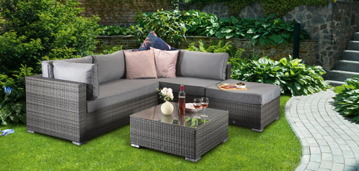 Savannah Corner Group Sofa Set in Grey - IN STOCK AND READY FOR DELIVERY