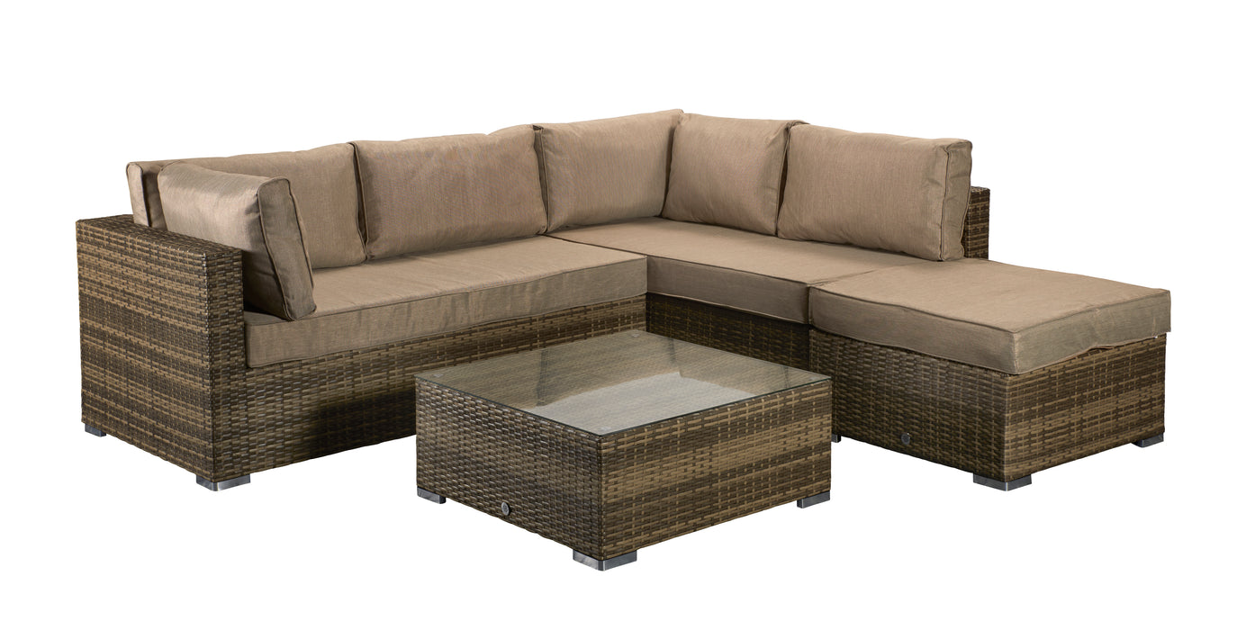 Savannah Corner Group Sofa Set in Natural - IN STOCK AND READY FOR DELIVERY