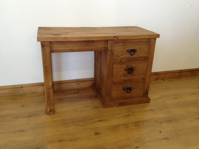 The Authentic Waxed Single Pedestal Dressing Table/Desk