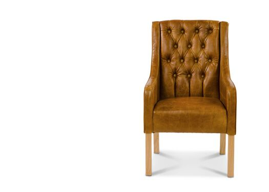 Simpson Italian Leather Brown Cerrato Chair