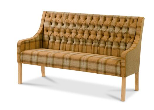 Simpson 3-Seater Moon Wool Oiled Leg Skye Sage With Traditional Camel Back And Sides