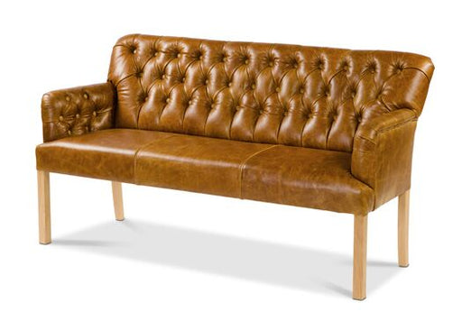 Scout 3-Seater Italian Leather Oiled Leg Brown Cerrato