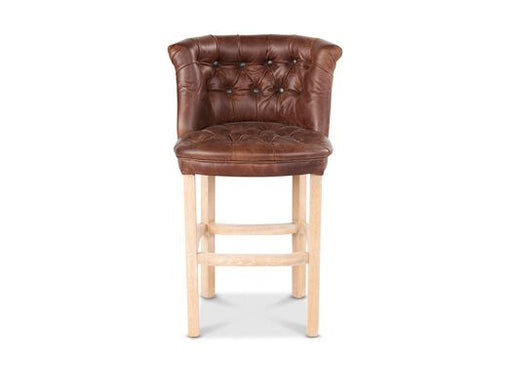 Parker Italian Leather Moon Wool Bartollo And Portabello Check Bown Pink Barstool