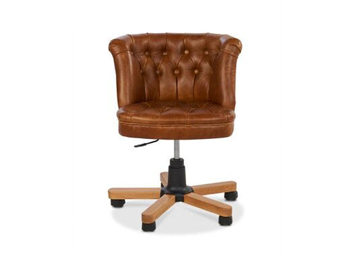 Parker Italian Leather Brown Cerrato Malham Green Office Chair