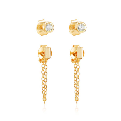Roni Earring Set Gold