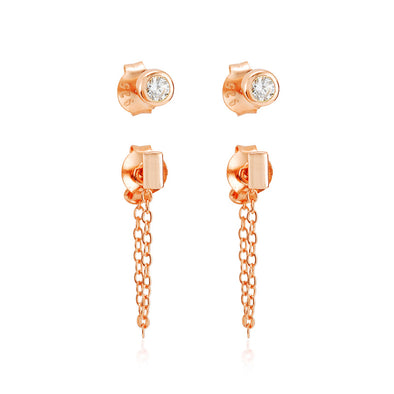 Roni Earring Set Rose Gold