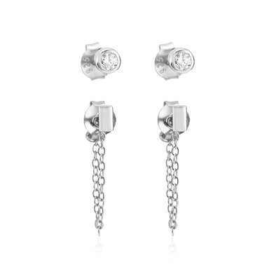 Roni Earring Set Silver